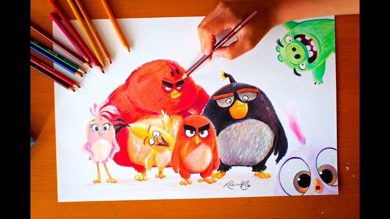 Drawing Angry Birds Movie: Drawing: ANGRY BIRDS MOVIE
