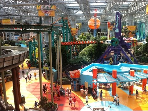 Nickelodeon Universe Theme Park at Mall Of America with The Legend