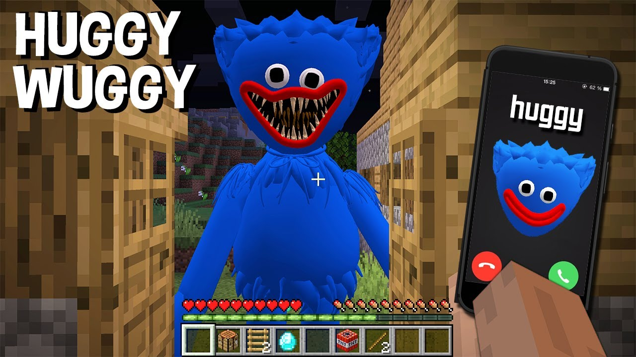 DON'T CALL TO HUGGY WUGGY in MINECRAFT - Gameplay SCARY DOLL SQUID GAME DOLL Poppy Playtime MINIONS