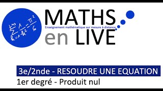 BREVET/SECONDE : RESOUDRE UNE EQUATION