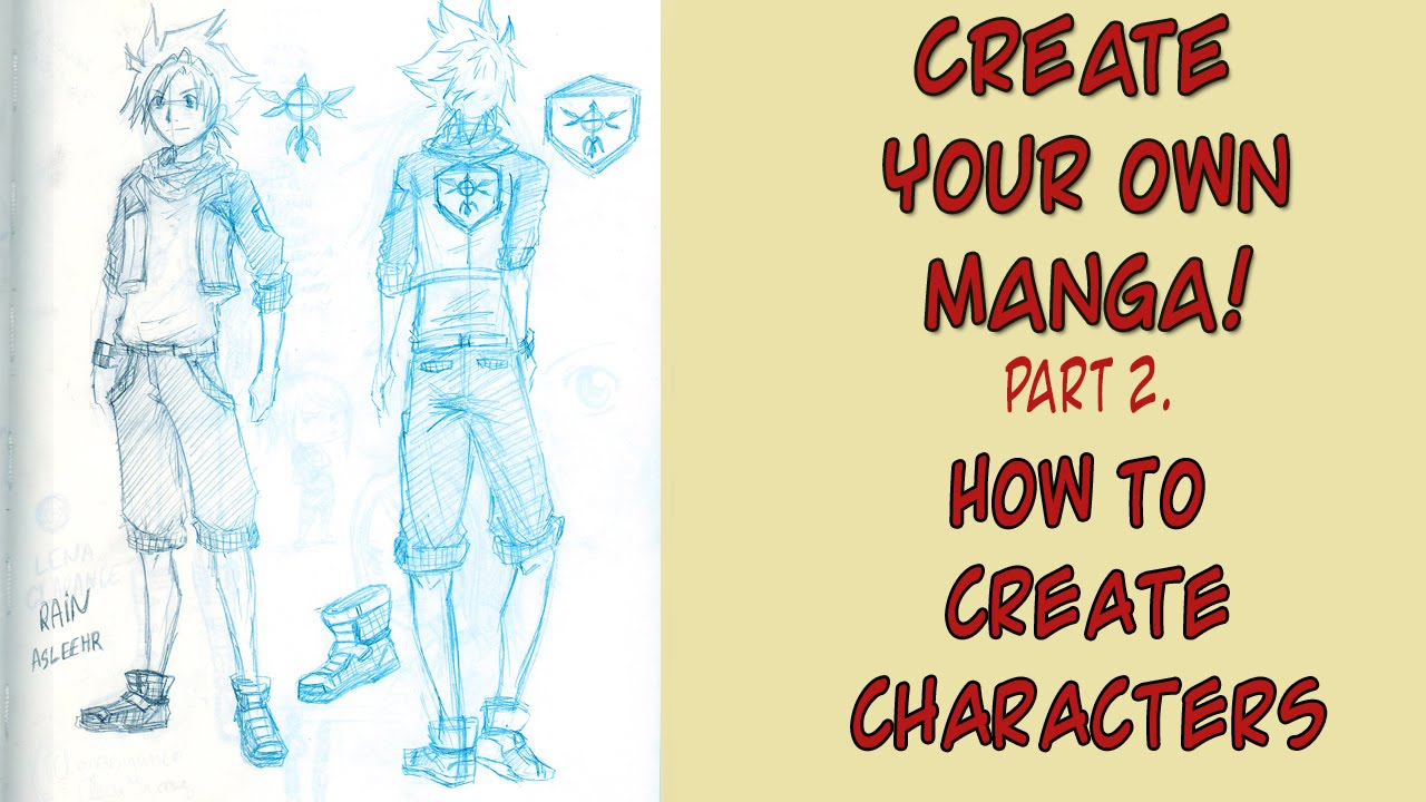 How to create characters create your own manga pt 2 for Create your own