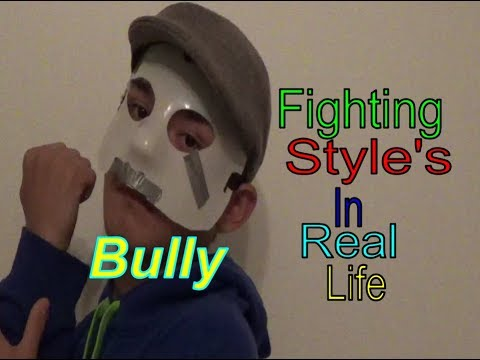 Bully Scholarship Edition: Fighting Style's In Real Life.