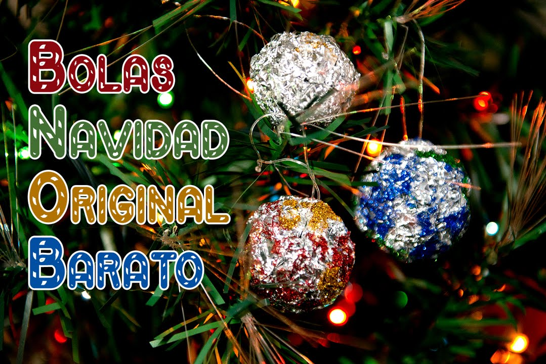 Bolas decoraci n fiestas y navidad facil y barato youtube for Decoracion de interiores facil y barato