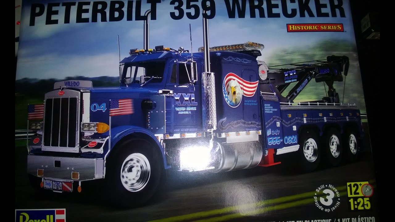 Revell Peterbilt 359 wrecker - YouTube