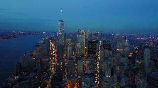 Drone Footage Of New York City At Night