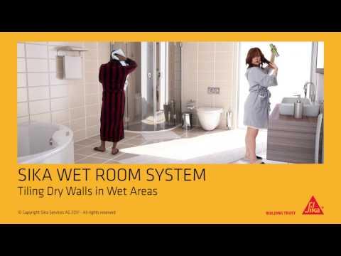 Sika Wet Room System Solution for Drywalls (tiling of