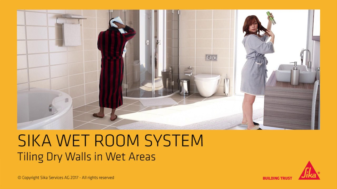 Sika Wet Room System Solution for Drywalls (tiling of bathrooms and  kitchens)