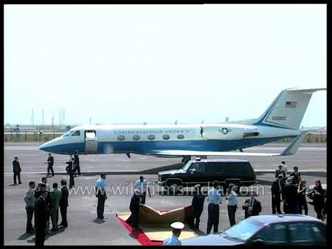 Download Bill Clinton and Chelsea board Gulfstream 4 jet at Delhi airport: 20 years later, Trump visits