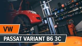 VW PASSAT Variant (3C5) első és hátsó Lengéscsillapító szerelési: ingyenes videó