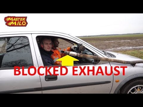 Driving with blocked exhaust