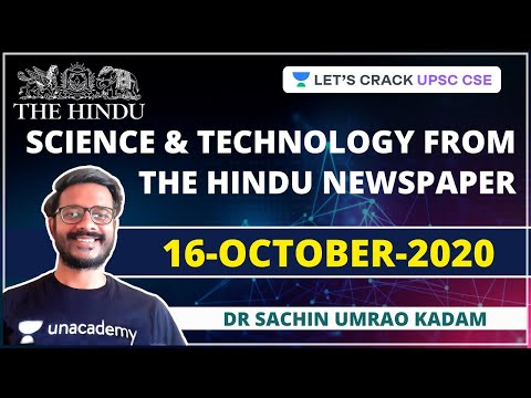 Science and Technology from The Hindu Newspaper | 16-October-2020 | Crack UPSC CSE/IAS