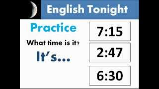 Learning to Tell Time in American English