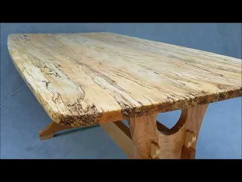 Finished Spalted Maple Table Youtube