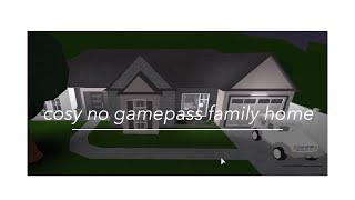 Roblox: Welcome to Bloxburg | Cosy No Gamepass Family Home | 38K |