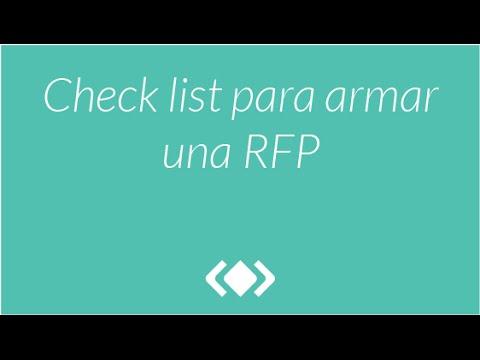 Check list para armar una RFP - Webinar