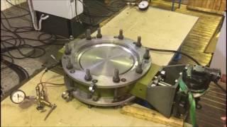 Испытания дискового затвора воздухом