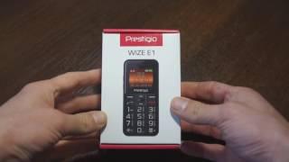 Краткий обзор мобильного телефона для пожилых Prestigio PFP1182 Wize E1