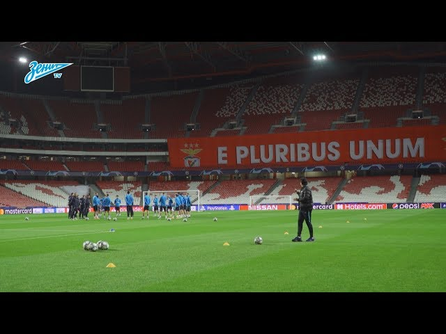Тренировка «Зенита» перед решающим матчем в Лиге чемпионов