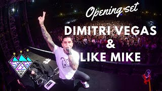 Opening set for DIMITRI VEGAS LIKE MIKE at the SYZYGY MUSIC FESTIVAL