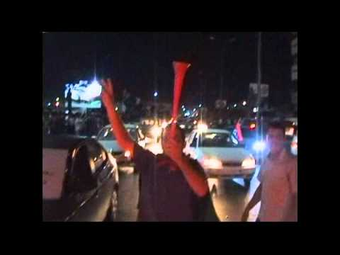 LIBYA- the fall of Tripoli celebrations in Misrata