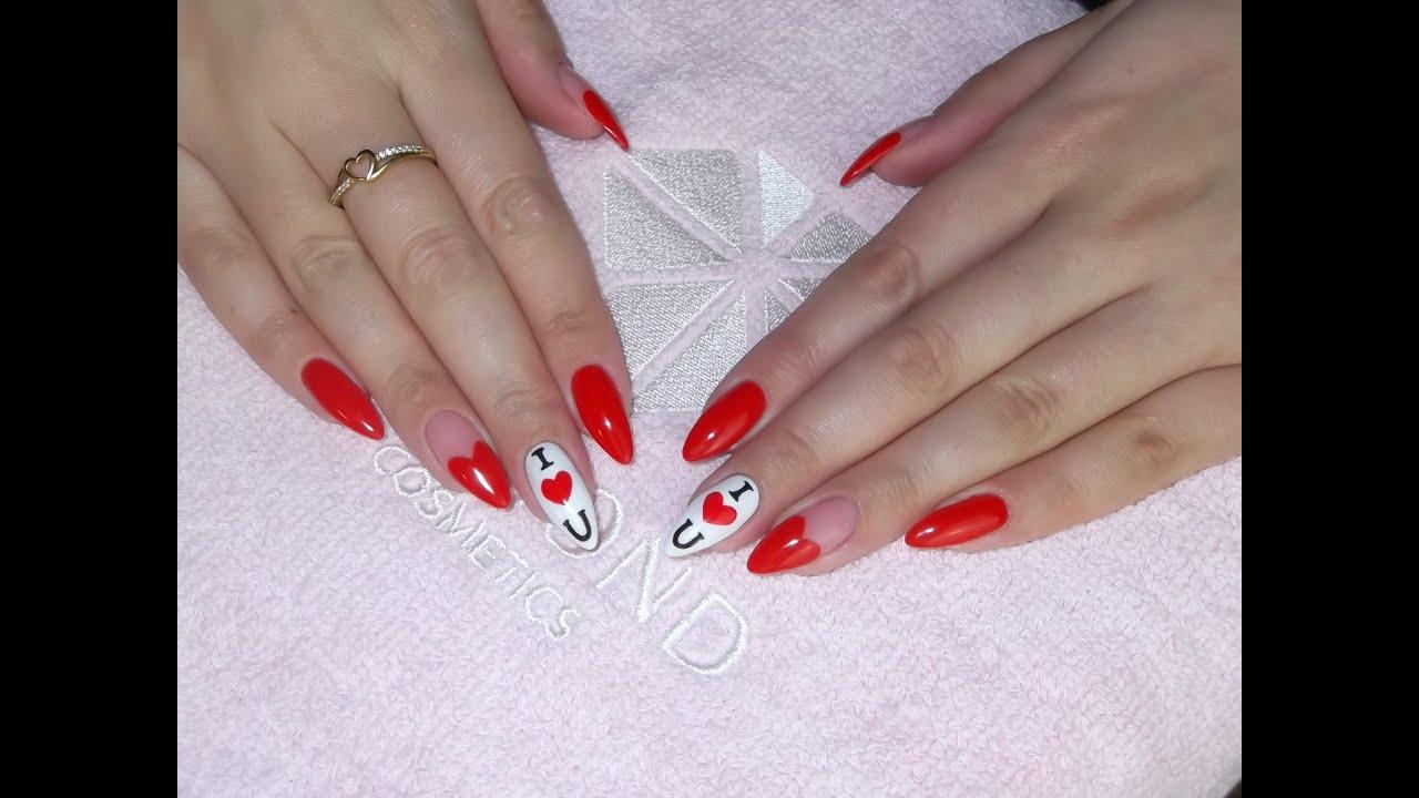 Valentine S Day Nails Walentynkowe Paznokcie Semilac Youtube