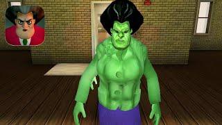 Scary Teacher 3D New Teacher Hulk Gameplay Walkthrough (IOS ANDROID)