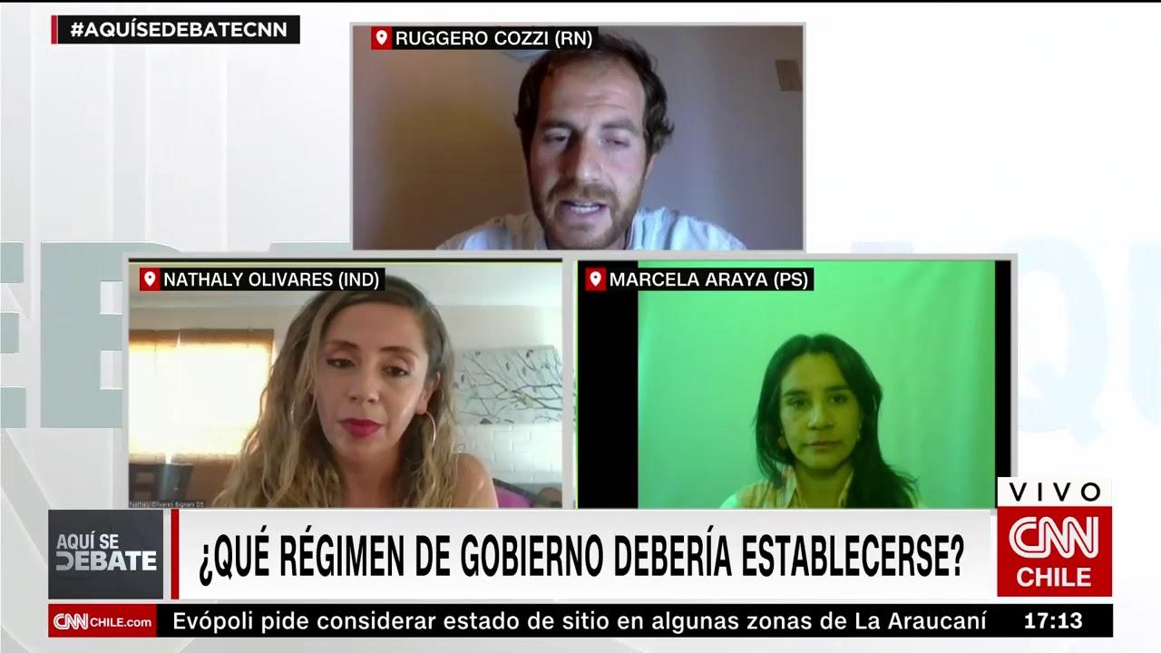 Aquí Se Debate, candidatos a la CC   Nathaly Olivares, Ruggero Cozzi y Marcela Araya