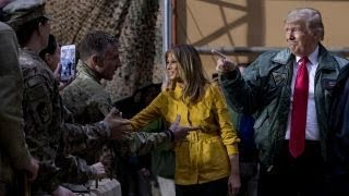 President Trump and first lady make surprise visit to US troops in Iraq, From YouTubeVideos