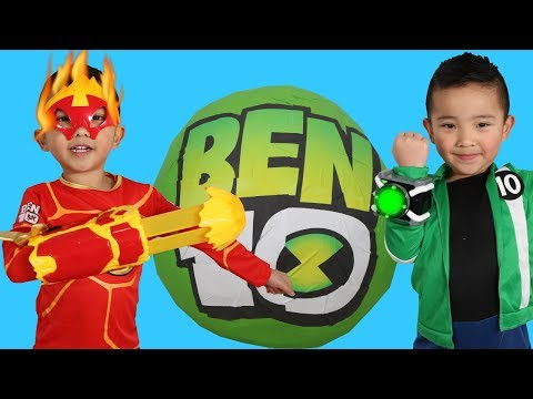 BIGGEST NEW BEN 10 Toys Collection Giant Surprise Egg Openin