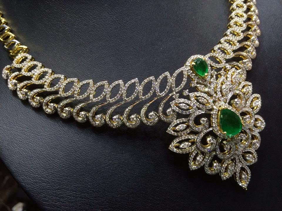 Diamond Necklace - Diamond Necklace India - Diamond Necklace Price ...