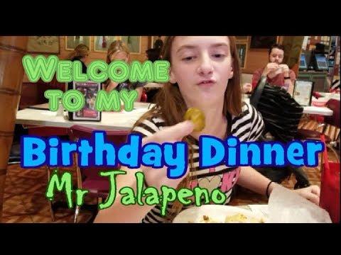 Welcome To My Birthday Dinner Mr Jalapeno |:| Living Coast 2 Coast |:| #IAmACreator