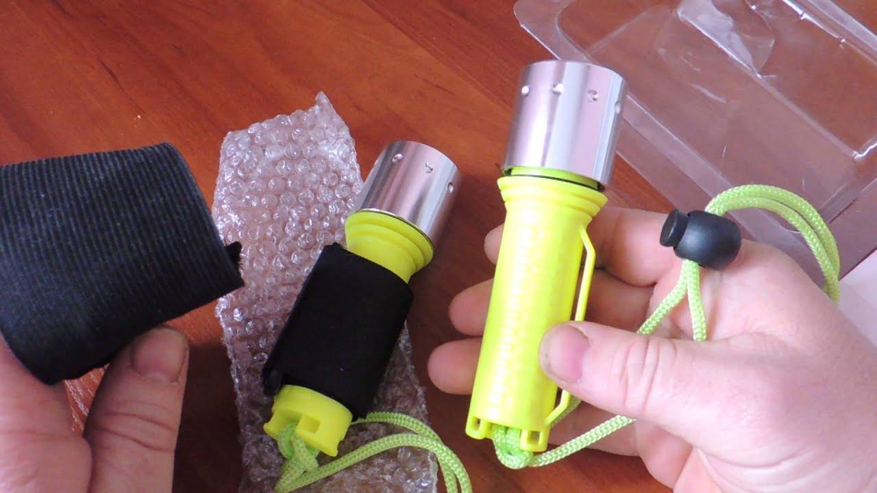 Специализированный водонепроницаемый светодиодный фонарь для дайвинга и подводной охоты. Создан специально для освещения подводных.