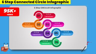 1.Create 6 step CONNECTED CIRCLE infographic/Powerpoint Presentations/Graphic Design/Free Template