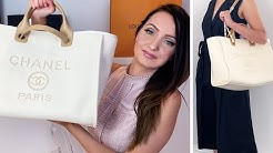 Chanel Deauville Medium Tote Bag Unboxing 💯 + Review and Outfits | 2020 Pearl Logo 😍