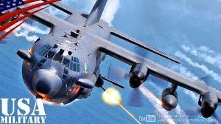 ガンシップ 「AC-130U スプーキーII」 砲弾発射! - AC-130U Spooky II Gunship Live Fire!