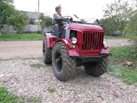 Самодельный трактор с мостами газ-66