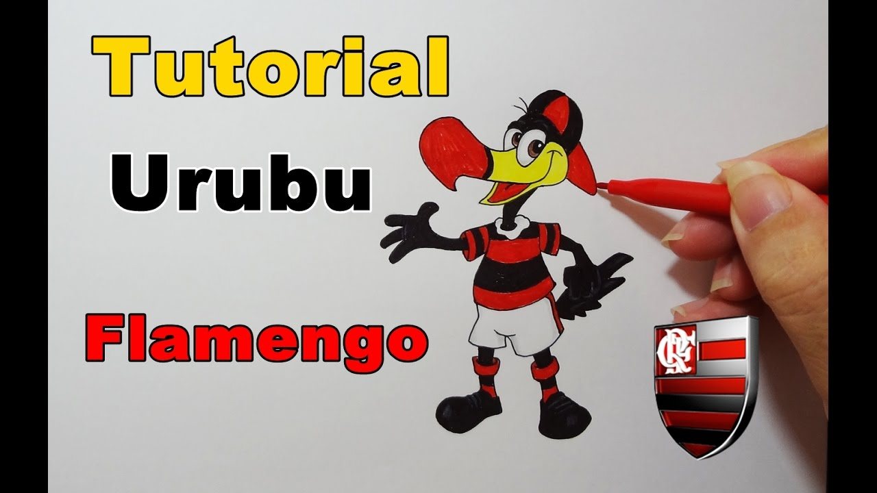 Como Desenhar Urubu Do Flamengo How To Draw Buzzard Youtube