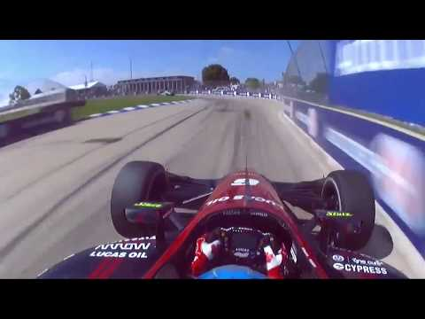 Robert Wickens Onboard Dual of Detroit Race 1 2018