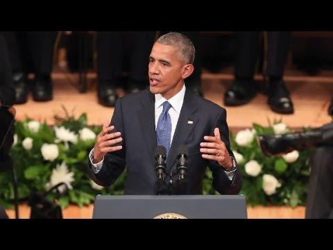 Obama's entire Dallas police memorial speech