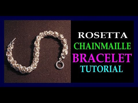 2 DIFFERENT WAYS OF CREATING ROSETTA CHAINMAILLE WEAVE