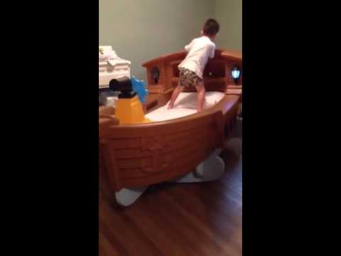 Little Tikes Pirate Ship Toddler Bed Hack