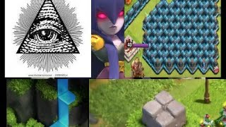 9 things u don't know exist in coc/ illuminati in clash of clans / water fall in coc / blue wall coc