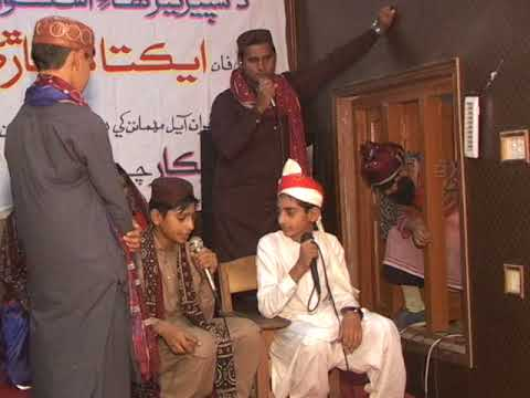 Sindhi tableau against copy culture by students of the Superior high School  mehar
