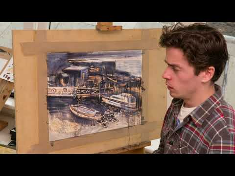 Benji Thomas: painting time-lapse – Landscape Artist of the Year
