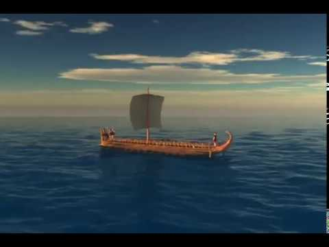 Greek Bireme ship