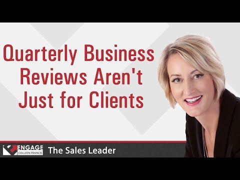 Quarterly Business Reviews Aren't Just for Clients | Sales Strategies