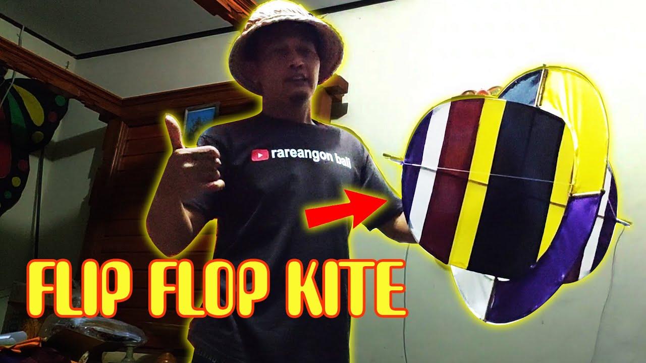 How to make FLIP FLOP KITE versi Rareangon Bali