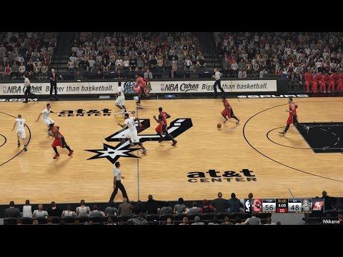 NBA 2K15 Toronto Raptors Vs San Antonio Spurs 10-03-2015
