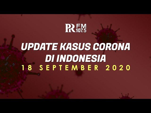 UPDATE Kasus Corona di Indonesia 18 September 2020