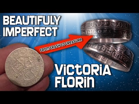 1900 Victoria Silver Florin turned into a .925 silver finger ring (4)